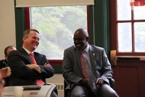 Lt. Gov. Tim Murray & Becker College President Robert Johnson