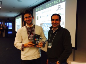 Grand Prize Winner Oles Terletskyy and Monty Sharma