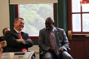 Lt. Gov. Tim Murray & Becker College President Robert Johnson