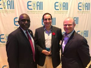 Robert Johnson, Monty Sharma and Tim Loew at the EforAll Summit